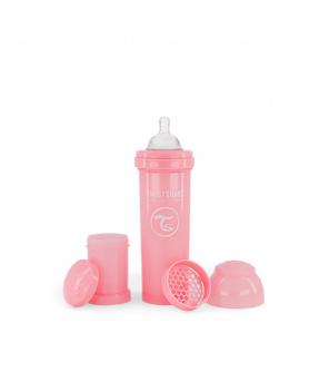 TWISTSHAKE Láhev kojenecká Anti-Colic 330 ml - pastelově růžová