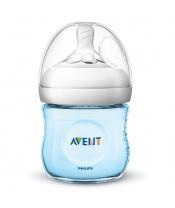 Kojenecká láhev Avent Natural 125 ml modrá
