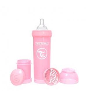 TWISTSHAKE Láhev kojenecká Anti-Colic 330 ml pastelově růžová