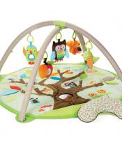 Deka na hraní 5 hraček, polštářek Treetop Friends green-brown 0m+
