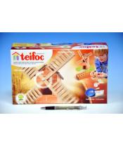 Stavebnice Teifoc Větrný mlýn 100ks v krabici 29x18x8cm
