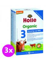 3x HOLLE Bio Dětská mléčná výživa 3 pokračovací