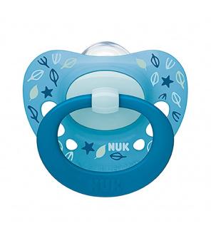 Šidítko NUK Classic Signature 18-36m modrý