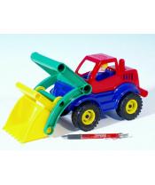Auto nakladač s figurkou aktivní plast 27cm 24m+