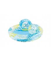 Sada dětský bazén 122x25cm+kruh+míč v sáčku 2+