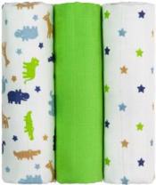 T-TOMI Pleny TETRA 70 x 70 cm, 3 ks, zelení krokodýli - Top kvalita