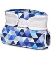 T-TOMI Abdukční ortopedické kalhotky (3-6 kg) - blue triangles