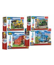 Puzzle miniMaxi Bořek stavitel a stroje 22x16cm 20 dílků v krabičce 11 x 8cm
