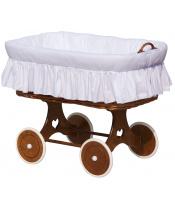Scarlett Proutěný košík na miminko Scarlett Péťa - bílá