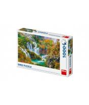 Puzzle Plitvická jezera Chorvatsko 66x47cm 1000 dílků v krabici 32x23x7,5cm