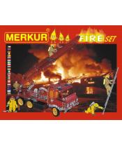 Stavebnice MERKUR FIRE Set 20 modelů 708ks 2 vrstvy v krabici 36x27x5,5cm