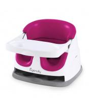 Podsedák na jídelní židli 2v1 Baby Base Pink Flambe 6m+, do 22kg