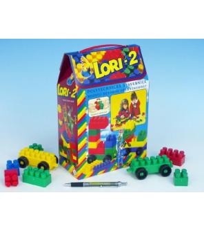 Stavebnice LORI 2 plast 35ks v krabici 19x28x10cm