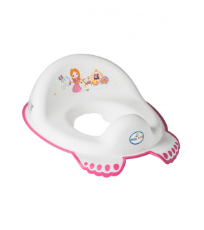 Dětské protiskluzové sedátko na WC Malá Princezna bílé
