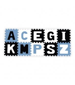 Pěnové puzzle 30x30 cm 10 ks Baby Ono písmenka modré