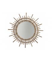 Zrcadlo ratanové kulaté 60 cm