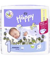BELLA HAPPY Newborn 1 (2-5 kg) Big Pack 78 ks - jednorázové pleny