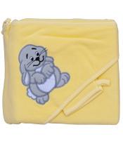Scarlett Froté ručník - Scarlett zajíc s kapucí - žlutá