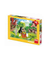 Puzzle Krtek a svačina 48 dílků 26x18cm v krabici 27x19x4cm