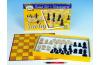 Šachy dřevo společenská hra v krabici 37x22x4cm