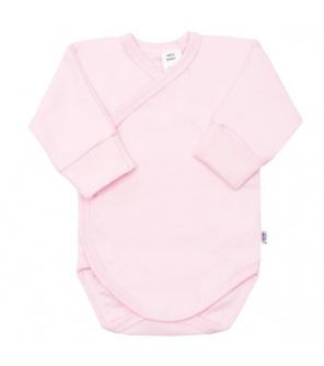 Kojenecké body s bočním zapínáním New Baby růžové