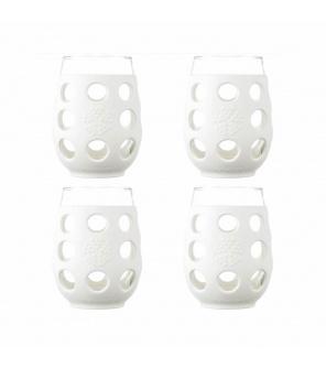 Lifefactory sklenice 325ml 4ks white