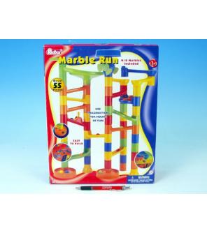 Kuličková dráha plast 55ks v krabici 24x37x7cm