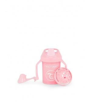 TWISTSHAKE Hrnek netekoucí učicí 230 ml pastelově růžový