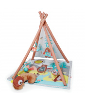 SKIP HOP Deka na hraní 4 hračky, polštářek Camping Cubs 0m+