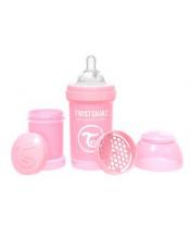 TWISTSHAKE Láhev kojenecká Anti-Colic 180 ml (0m+) pastelově růžová