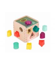Kostka dřevěná s vkládacími tvary Wonder Cube