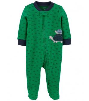 CARTER'S Overal zip oboustranný Green Turtle chlapec NB