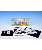 AKCE Abeceda Skládačka s písmenky a čísly plast v krabici 31x13x4cm