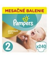 Měsíční zásoba plenek Premium Care 2 MINI 4-8 kg 240 ks Pampers