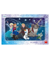 Puzzle Sněhové vločky deskové 15 dílků Frozen/Ledové království 30x19cm