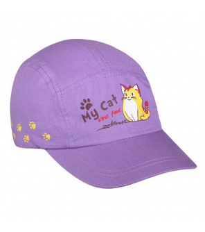 Letní dětská kšiltovka New Baby My Cat fialová