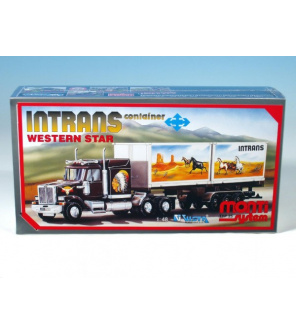 Stavebnice Monti System MS 25 Intrans Container Western star 1:48 v krabici 31,5x16,5x7,5cm
