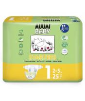 Pleny jednorázové 1 Newborn 2-5kg 25ks Baby Muumi