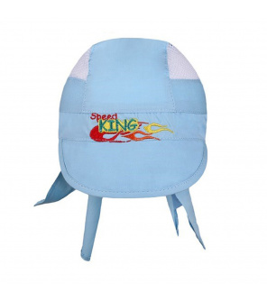 Letní dětská čepička-šátek New Baby Speed King modrá