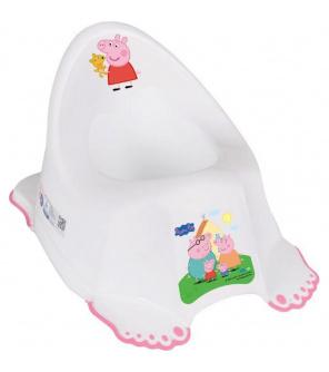 Hrající dětský nočník protiskluzový Prasátko Peppa white-pink