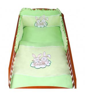 3-dílné ložní povlečení New Baby Bunnies 100/135 zelené