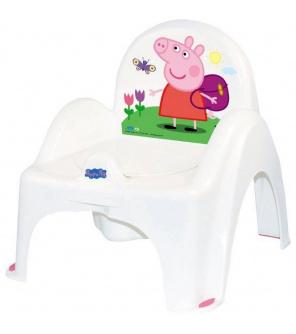 Hrající dětský nočník s poklopem Prasátko Peppa white-pink