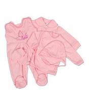 5-ti dílná soupravička New Baby růžová