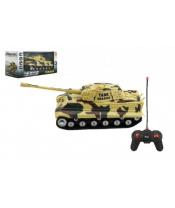 Tank RC PANTHER plast 25cm na baterie 27mHz se zvukem se světlem v krabici 28x13x12cm