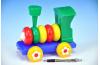 Lokomotiva/Vlak šroubovací skládací tahací plast 20cm 24m+