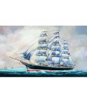 Model Klipper Cutty Sark 1:180 23x36cm v krabici 34x19,5x5,5cm