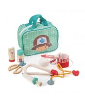 Tender Leaf Toys Lékařská taška Medical Bag  9dílná souprava s dřevěnými lékařskými nástroji