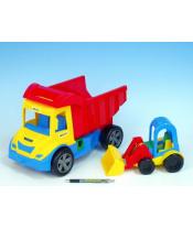 Auto multitruck s nakladačem plast 38cm asst 2 barvy v síťce 12m+ Wader