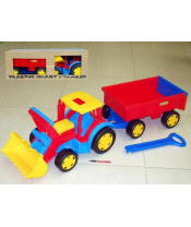 Traktor Gigant nakladač s vlečkou plast 102cm Wader v krabici