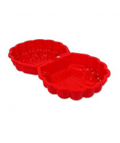 Pískoviště-bazének Mušle - 2 ks červené